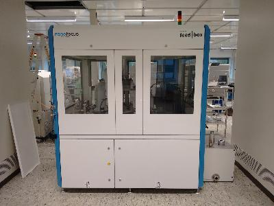 Nanofocus µsprint 3d inspection system with Baumann Handler